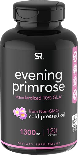 Evening Primrose Oil (1300mg) 120 Liquid Softgels ~ Cold-Pressed with No...