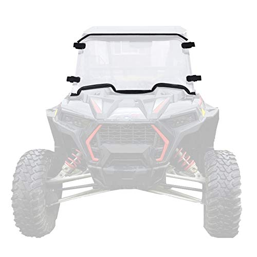 Clear Front Full Windshield with Four Velcro Clamps Scratch Resistant...