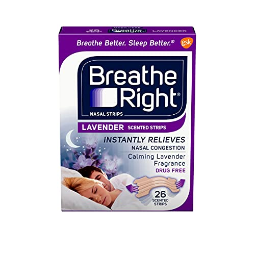 Breathe Right Nasal Strips, Lavender, Nasal Congestion Relief due to Colds...