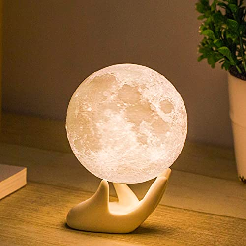 Moon Lamp Balkwan 3.5 inches 3D Printing Moon Light uses Dimmable and Touch...
