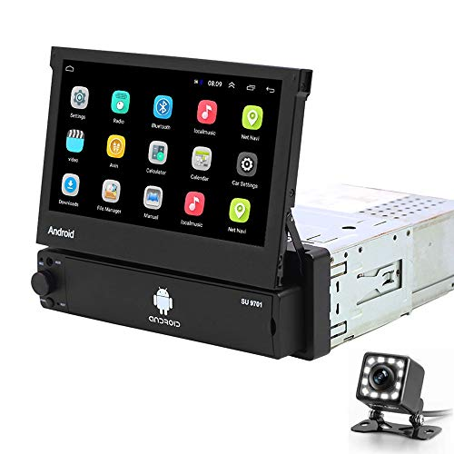 Hikity Android Single Din Touch Screen Car Stereo 7 Inch Flip Out Car Radio...