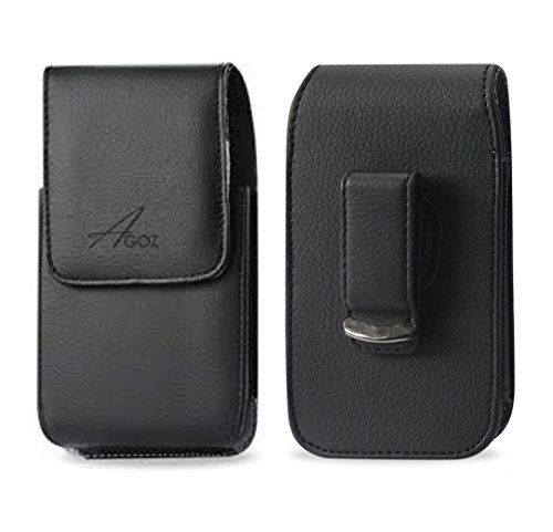 AGOZ Carrying Leather Vertical Case Pouch Holster Cover for Samsung Galaxy...