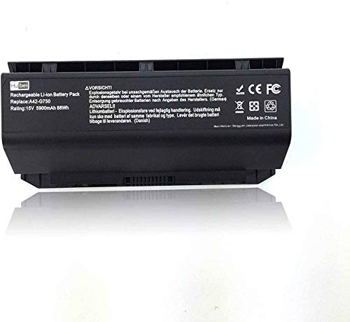 A42-G750 Laptop Battery Replacement for ASUS ROG G750JH-DB71 T4106H G750JHA...
