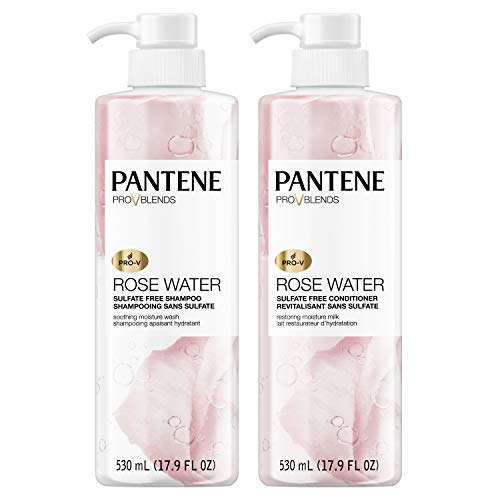 Pantene, Shampoo and Sulfate Free Conditioner Kit, Paraben and Dye Free,...