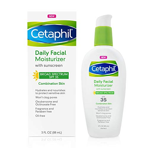 Cetaphil Face Moisturizer, Daily Oil Free Facial Moisturizer with SPF 35,...