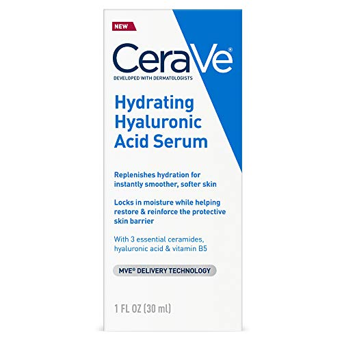 Cerave Hyaluronic Acid Serum for Face with Vitamin B5 and Ceramides |...