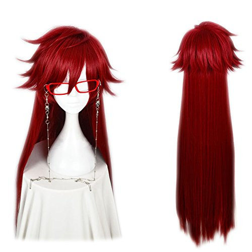 magic acgn red Long Straight fashion Party Anime Cosplay Costume...