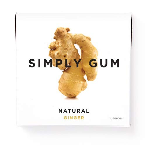 Simply Gum   Natural Chewing Gum   Ginger   Pack of Six (90 Pieces Total)  ...