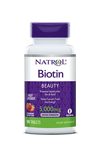 Natrol Biotin Beauty Tablets, Promotes Healthy Hair, Skin and Nails, Helps...