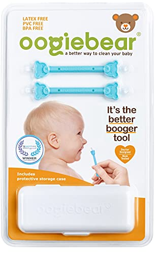 oogiebear Two Pack - Patented Nose and Ear Gadget. Safe, Easy Nasal Booger...