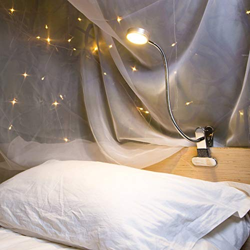 Eyocean LED Reading Light, Dimmable Clamp Light for Bed Headboard, Bedroom,...