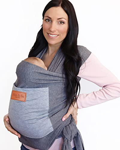 Baby Wrap Carrier with Front Pocket - Premium Cotton Baby Sling - One Size...
