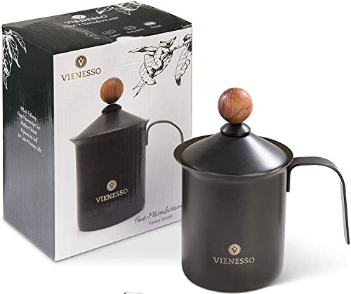 VIENESSO First-class milk frother (manual/hand-hold) made of stainless...