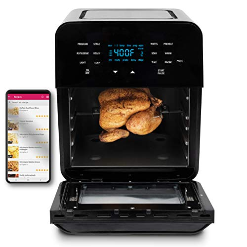 Nuwave Brio 15.5 Quart Large Capacity 6-in-1 Air Fryer Oven with Touch...