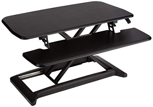 Amazon Basics Adjustable Standing Desk Attachment for Computer Monitor and...