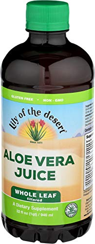 Lily of The Desert Aloe Vera Supplement, Whole Leaf, 2 Count