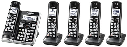 Panasonic Link2Cell Bluetooth Cordless Phone System with Voice Assistant,...