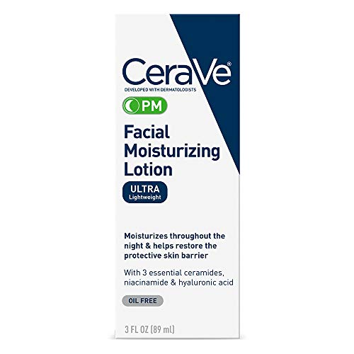 CeraVe PM Facial Moisturizing Lotion   Night Cream with Hyaluronic Acid and...