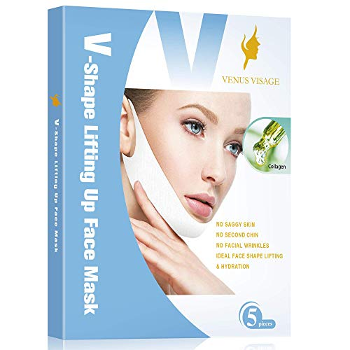 Double Chin Reducer V Line Lifting Mask Chin Up Patch Neck Lift Tape Face...