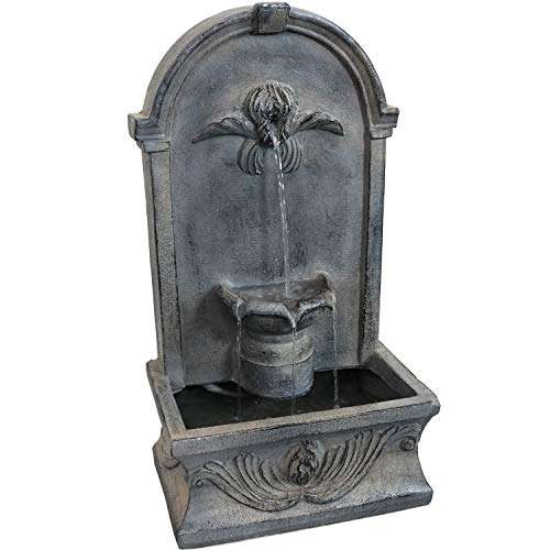 Sunnydaze Indoor or Outdoor Wall Mounted Fountain - French-Inspired Design...