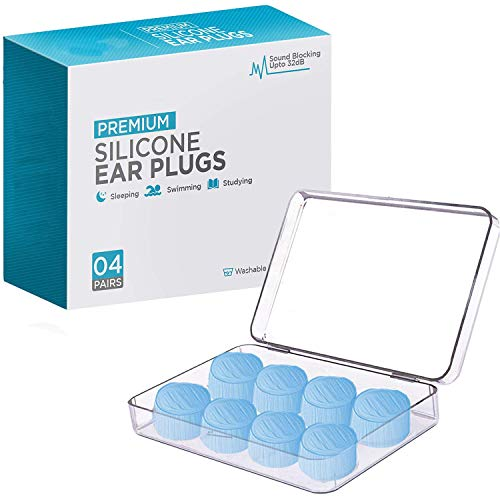 Ear Plugs for Sleeping, Reusable Silicone Moldable Noise Cancelling Sound...