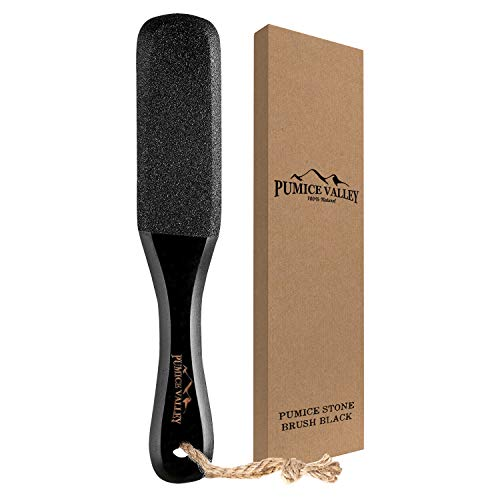 Pumice Stone Foot Scrubber - Pedicure Foot File with Handle for Dry Dead...