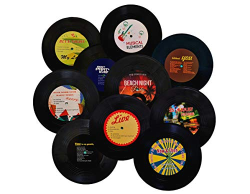 MINI ZOZI 7 inch Blank Vinyl Records Fake 10 Pieces in 1 Pack for Indie...