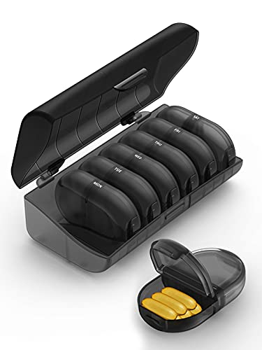 Fullicon Pill Organizer 2 Times a Day, Weekly Pill Box AM PM, Removable...