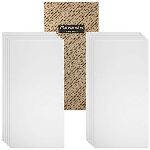 Genesis 2ft x 4ft Smooth Pro White Ceiling Tiles - Easy Drop-In...