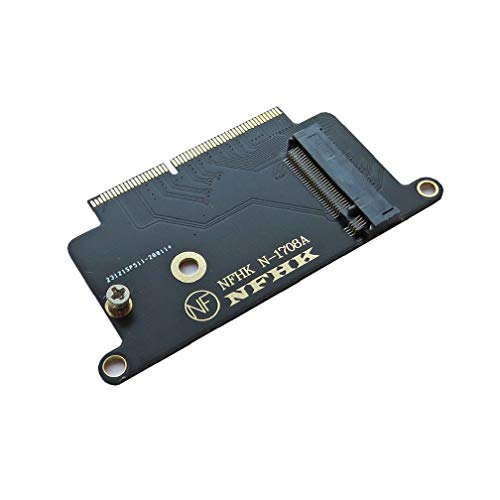 ALIKSO M.2 NVMe SSD to 2016 2017 MacBook Pro A1708 SSD Adapter Card,HDD...