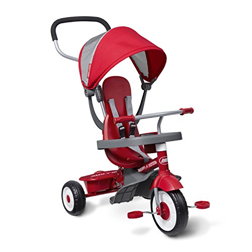 Radio Flyer 4-in-1 Stroll 'N Trike, Red Toddler Tricycle for Ages 1 Year -5...