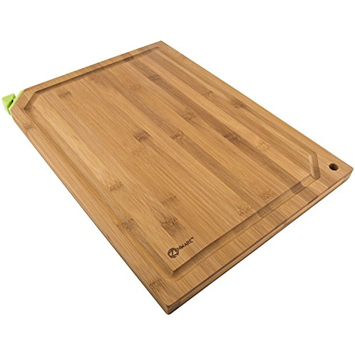Zenware 3 Piece Triple-Ply Warp Resistant All Natural Bamboo Cutting Board...