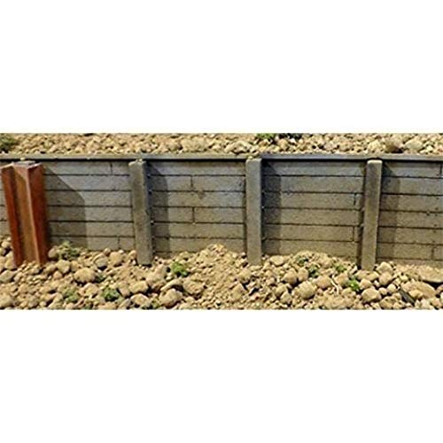 Flexible Timber Retaining Wall -- Small for HO & N Scales 3-3/4 x 12' 9.5 x...