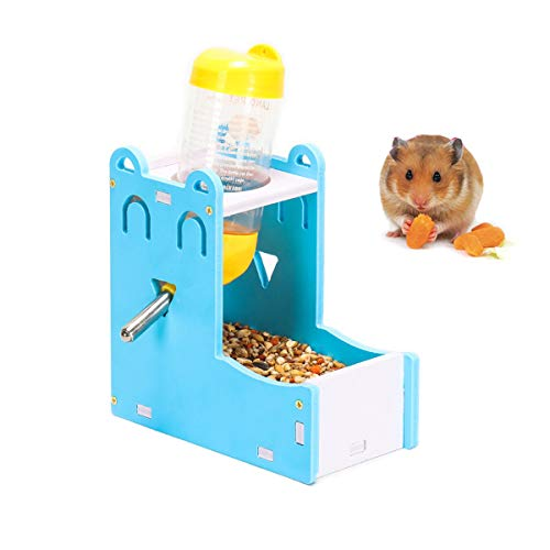 2 in 1 Hamster Hanging Water Bottle Pet Auto Dispenser with Base for...