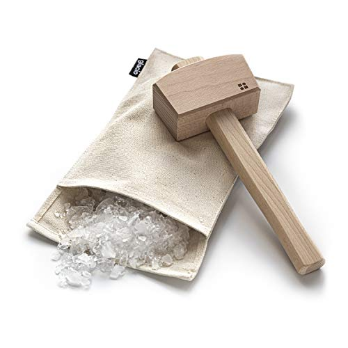 glacio Ice Mallet and Lewis Bag - Wood Hammer and Canvas Bag for Crushed...