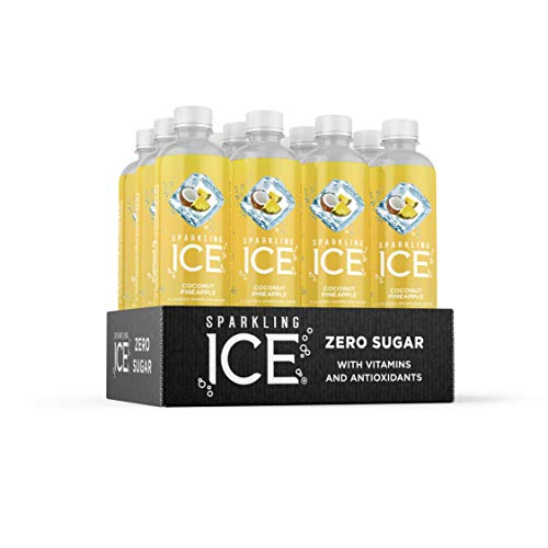 Sparkling Ice, Coconut Pineapple Sparkling Water, with Antioxidants and...