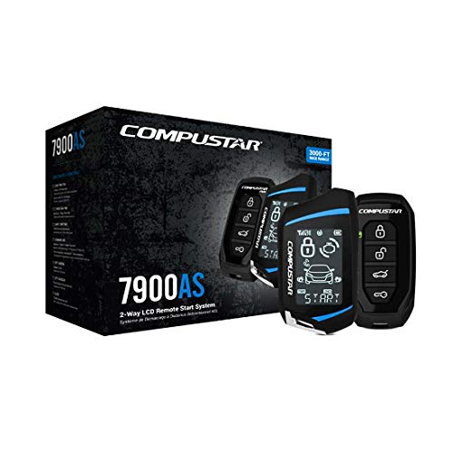 Compustar CS7900-AS All-in-One 2-Way Remote Start and Alarm Bundle w/ 3000...