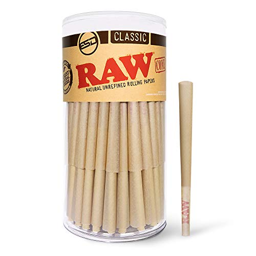 RAW Cones Classic Lean Size   100 Pack   Natural Pre Rolled Rolling Paper...