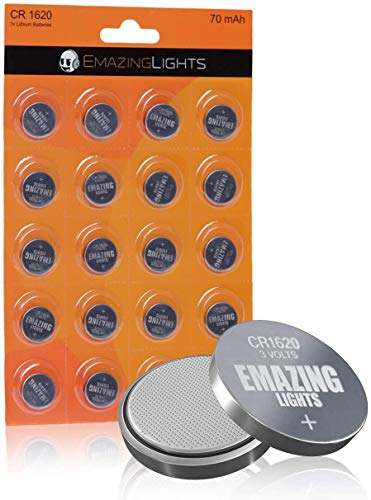 EmazingLights CR1620 Batteries 3 Volt Lithium Coin Cell 3V Button Battery...
