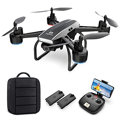 DEERC Drone with Camera for Adults 2K Ultra HD FPV Live Video 120° Wide...