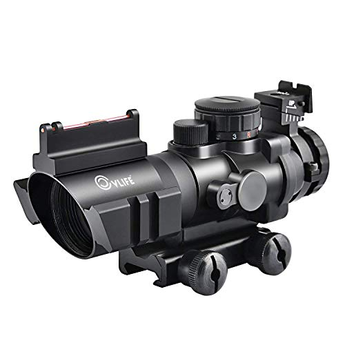 CVLIFE 4x32 Tactical Rifle Scope Red & Green &Blue Illuminated Reticle...