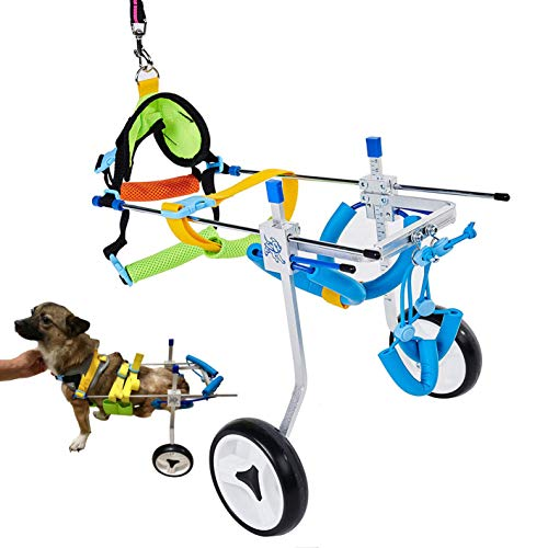 Adjustable XS Dog Cart/Wheelchair ,for Back Legs Wheelchair, for Pet/Doggie...