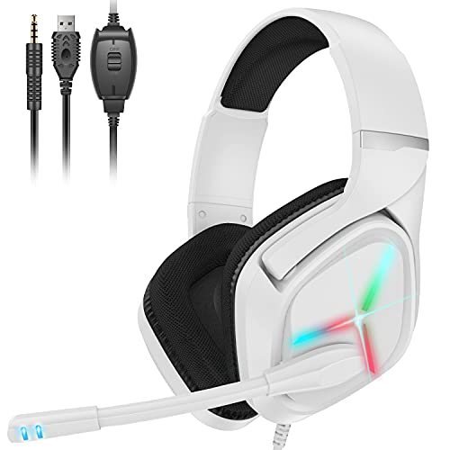 Gaming Headset Xbox Headset with Mic 3D Surround Sound Stereo, Noise...