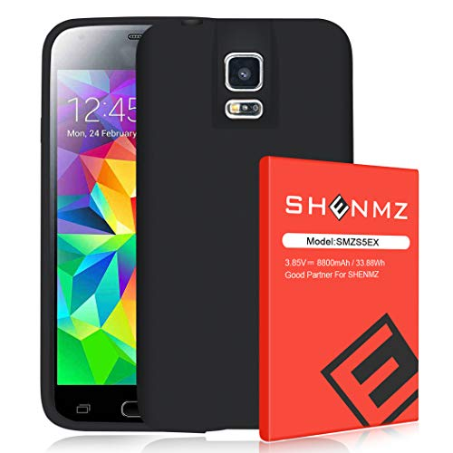 【8800mAh】 SHENMZ for Galaxy S5 Battery, Extended Battery Replacement...