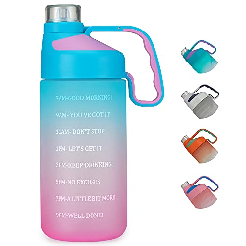 EAILGORL Water Bottles with Motivational Time Marker & Straw Leakproof BPA...