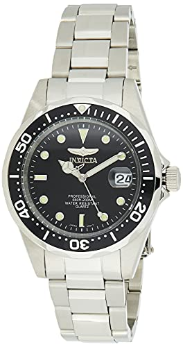 Invicta Pro Diver 37.5mm Stainless Steel Quartz Watch, Silver (Model: 8932)