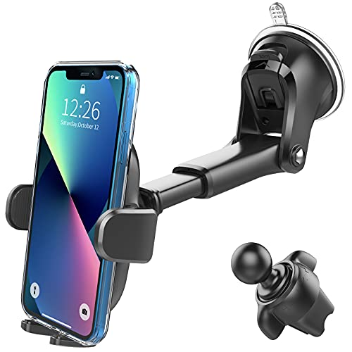3-in-1 Suction Cup Phone Holder Windshield/Dashboard/Air Vent, Oqtiq...