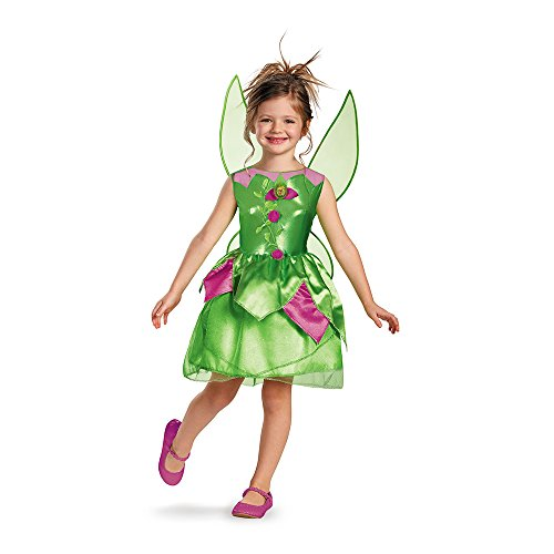 Disguise Disney Fairies Tinker Bell Classic Girls' Costume, Small(4-6x)