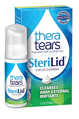 TheraTears Sterilid Eyelid Cleanser, Lid Scrub for Eyes and Eyelashes,...