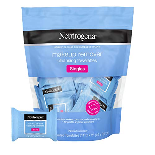 Neutrogena Facial Cleansing Towelette Singles, Daily Face Wipes to Remove...